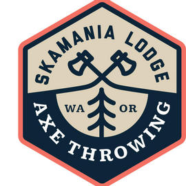 Skamania Lodge Adventures Axe Throwing logo