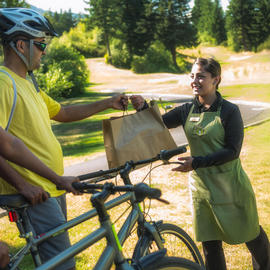 green apron bike delivery